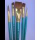 Kit de pinceis linha Menta Modelos Variados com chato largo -RMEN-SET782