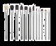 Linha Zen Série 83 para Aquarela - Pincéis Avulsos